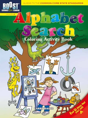 BOOST Alphabet Search Coloring Activity Book
