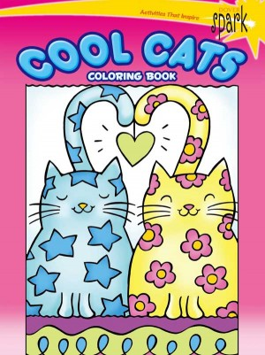 SPARK — Cool Cats Coloring Book